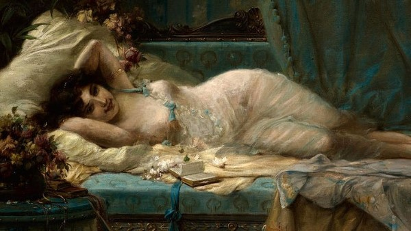 reclining woman hans zatzka Custom - Seductive Feminine Dating Type Quiz - The Lover Qualified